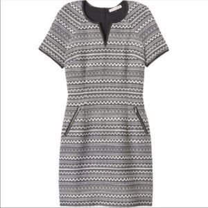 Rebecca Taylor tweed effect patterned dress